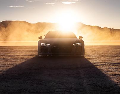 Widebody Audi R8 on the Vegas Dry Lake Bed