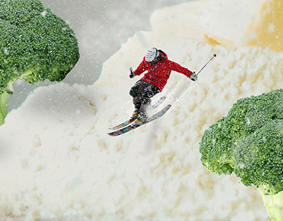 Composición Ps esquiando en harina