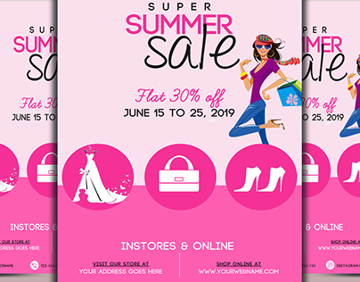 Super Summer Sale Flyer