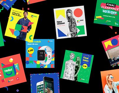 Multicolor Social Media Kit