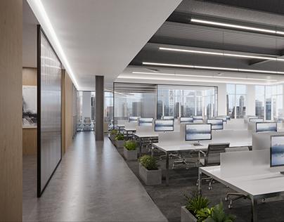 Office Space Marketing Visual, Liberty Street NY