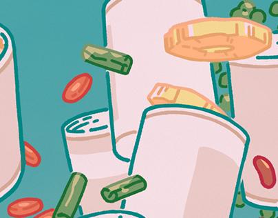 Assorted Food Illustrations