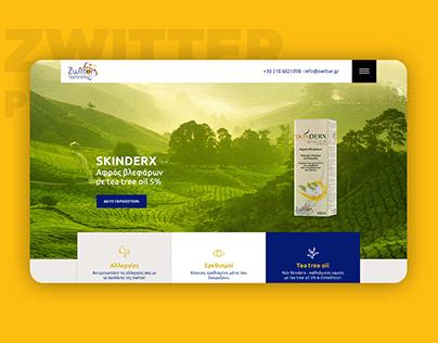 Ζwitter Pharmaceuticals website construction
