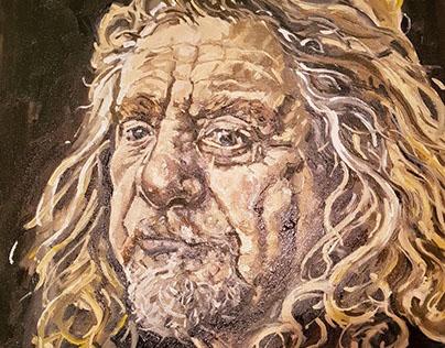 Robert Plant Portrait in Oils