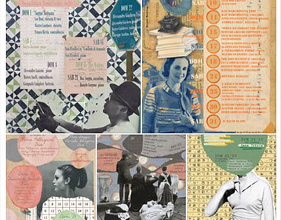 vintage style posters for café & bookstore
