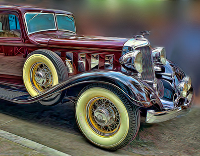 CLASSIC CARS PAINTED FROM PHOTOGRAPHS