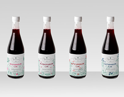 Wild berries juice packaging design