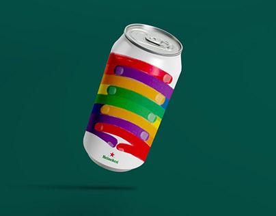 Packaging Design for Heineken (Pride Parade)
