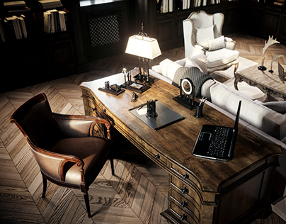 Interior visualization in modern classic style