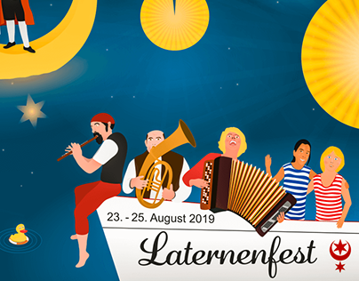 City-Light-Poster für das Laternenfest 2019 in Halle