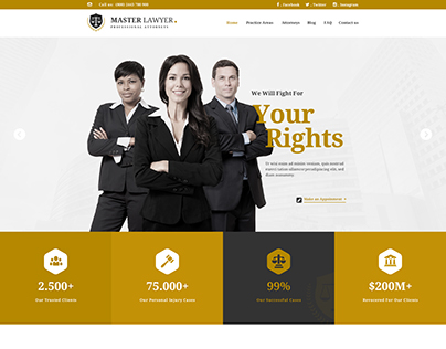 Master Lawyer PSD Template