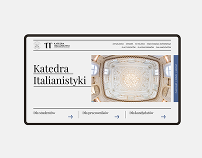 Department of Italian Studies website redesign