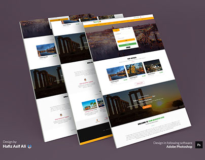 Website Home Page Design for Your Morocco Stay