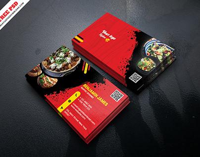 Restaurant Creative Business Card Free PSD