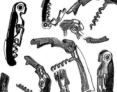 Corkscrew: Studies, Graphic Translation, and Logo