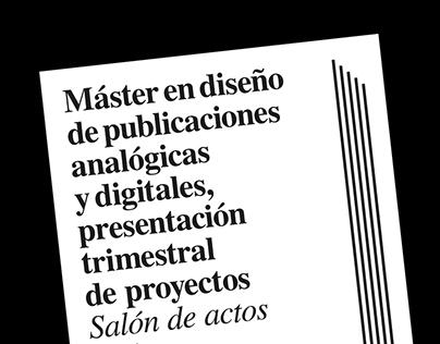 Máster de diseño editorial | Cartelismo