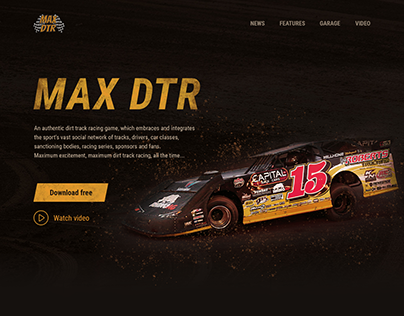 Landing page for MAX DTR game