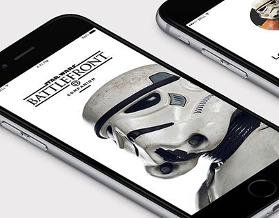Star Wars™ Battlefront™ Companion App Redesign Concept