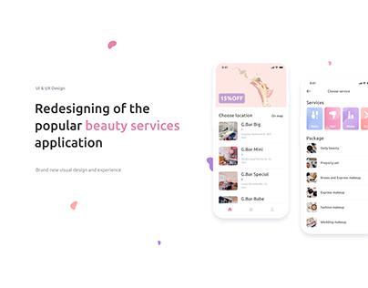 Redesigning of the popular beauty services application
