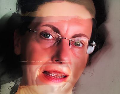 Modern relationship. 5 digital paintings.