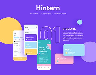 Hintern - UX/UI project