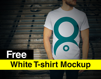 White Realistic T-shirt Mockup Free Download PSD