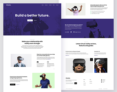 VR Landing page - Build a better future (PSD)
