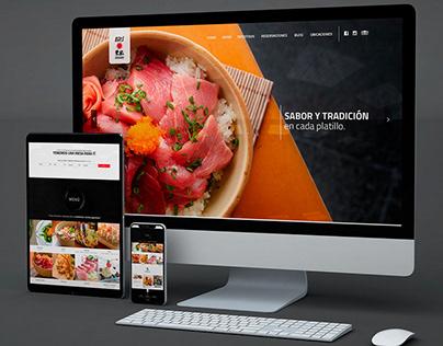 Diseño sitio web Eiki Restaurante
