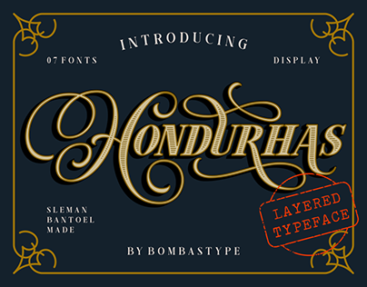 Hondurhas Layered Typeface - Free Demo