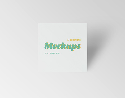 Square Business Card Mockups - Freebie!