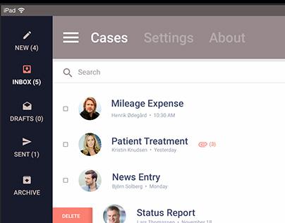 CaseFlow - iPad app pitch redesign