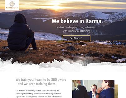 Karma Digital SEO landing page