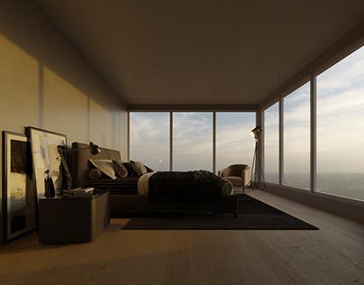 CGI - Bedroom Apartament