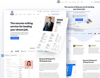 Quanta Resume - Website Design // Download Now