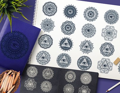 Mystical Mandala With Eye In Triangle