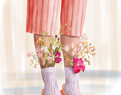 Flowery legs