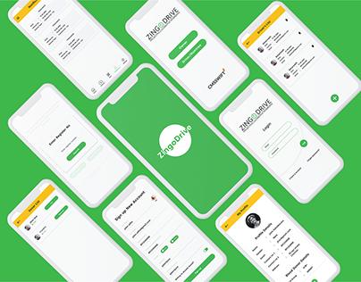 Zingo Drive Mobile App UI