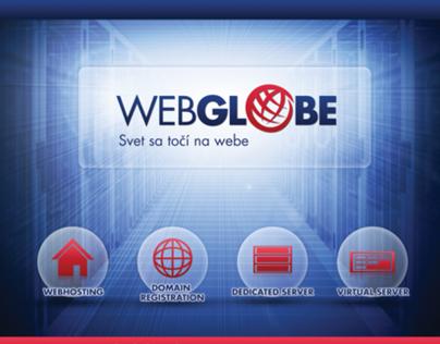 WEBGLOBE branding, webdesign, prints