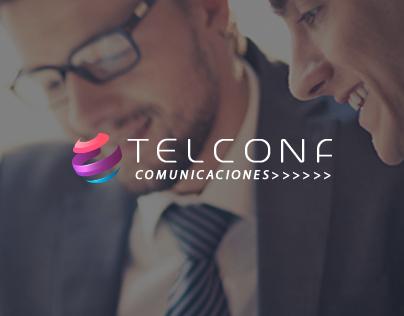 Página web e imagen corporativa Telconf Comunicaciones