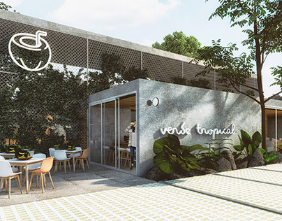 Cafetería Verde tropical