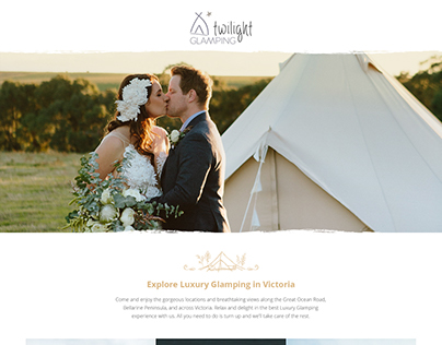 Twilight Glamping Landing Page