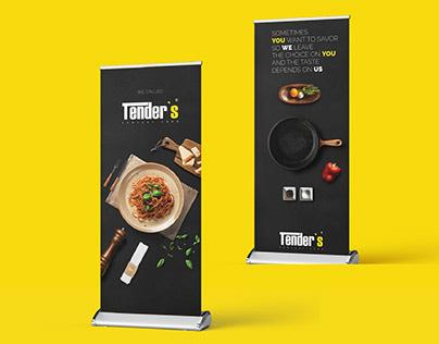 TENDERS restaurant   branding