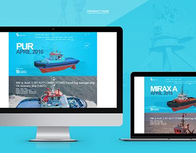 Craneship shipyard corporate web-site
