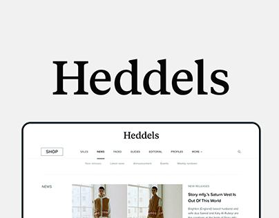 Heddels redesign