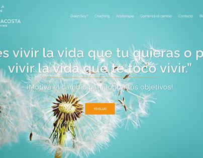 Web design en Wordpress - Claudia Acosta Coaching