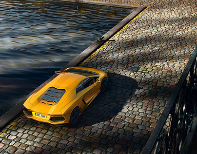 Lamborghini Aventador Full CGI scene