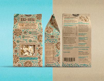 Packaging design for healthy snack Eki-neki