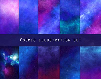 Cosmic art | Galaxy backgrounds & illustrations