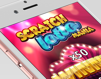 Game UI - Scratch Lotto Game for iOs