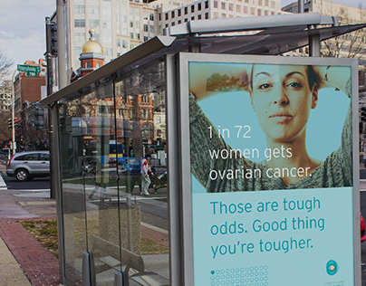 Sandy Rollman Ovarian Cancer Foundation ad campaign